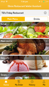 Dine without waiting with Obron Restaurant Waiter App